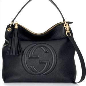 Black Gucci soho tote